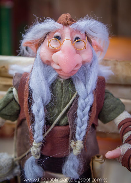 ooak doll fantasy creature old wise library elf goblin