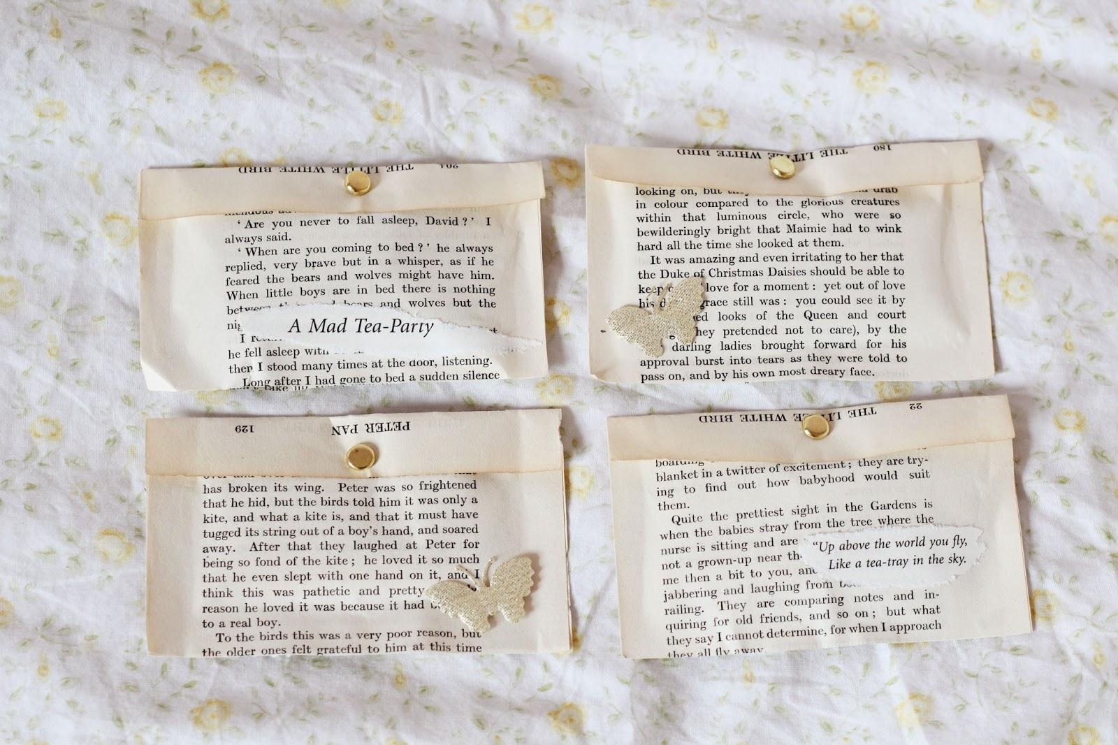 Secret book page envelopes DIY  Gingerlillytea