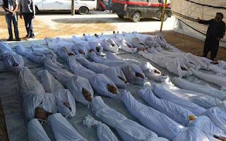 Korban pembantaian di Suriah