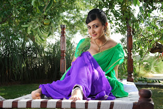 Actress Neelam Upadyaya Latest  Pictures in Green Saree  0018.jpg