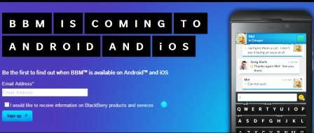 BlackBerry Begins Official Website BBM For iOS And Android