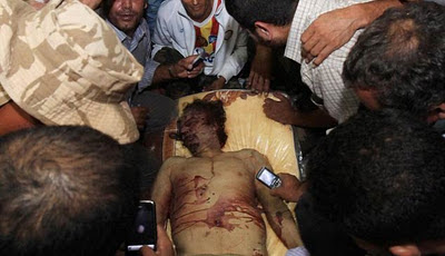 Moammar Gadhafi Death Photo