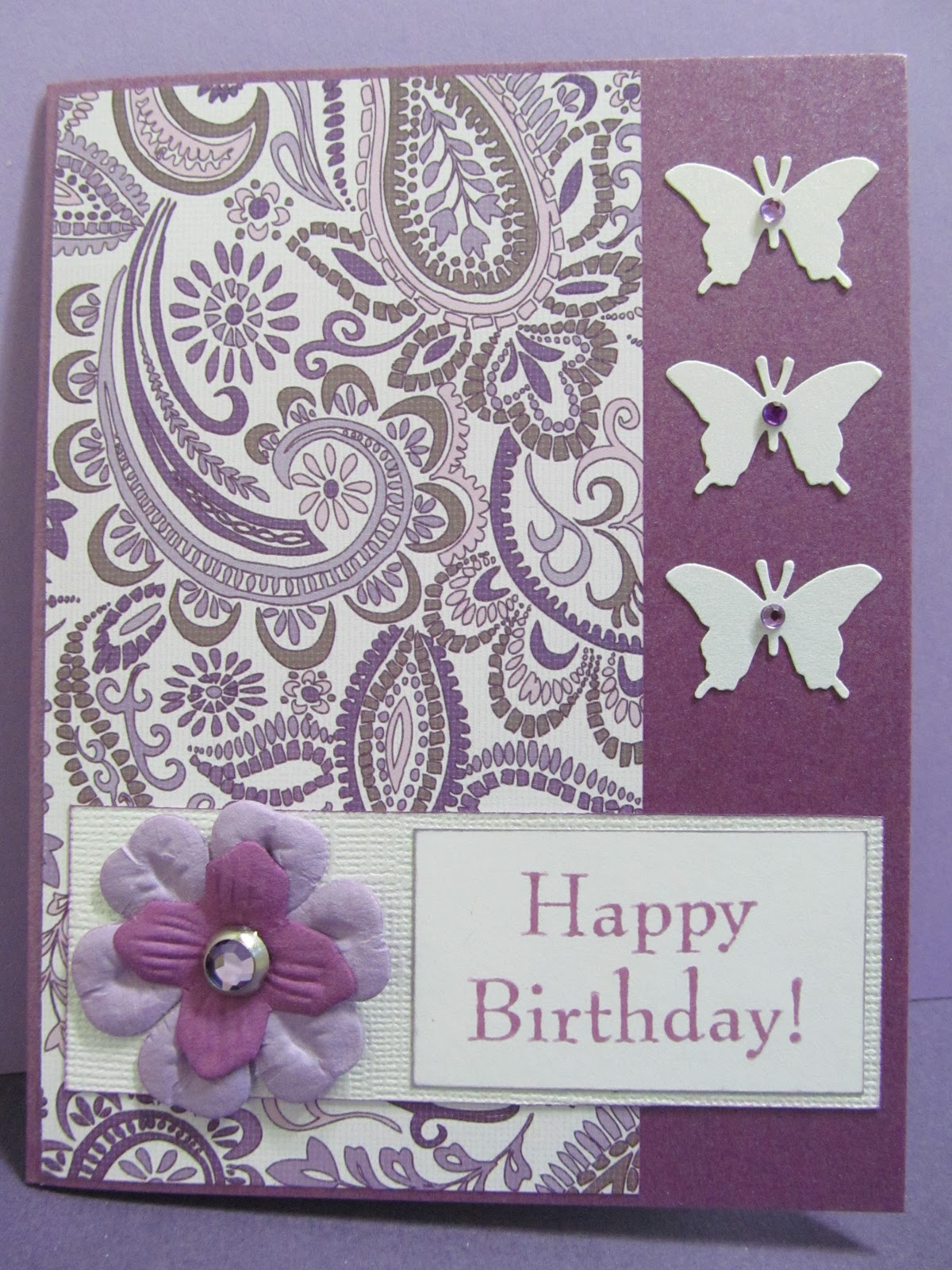 Savvy Handmade Cards: Butterfly Happy Birthday Card