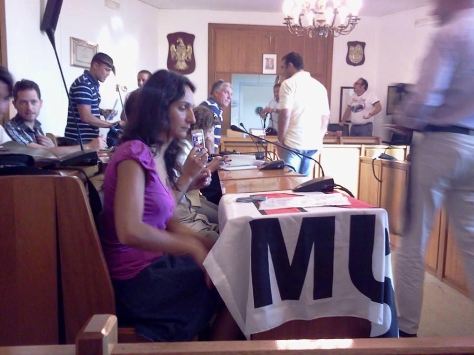 Agata Montesanto al Consiglio comunale di Mascalucia
