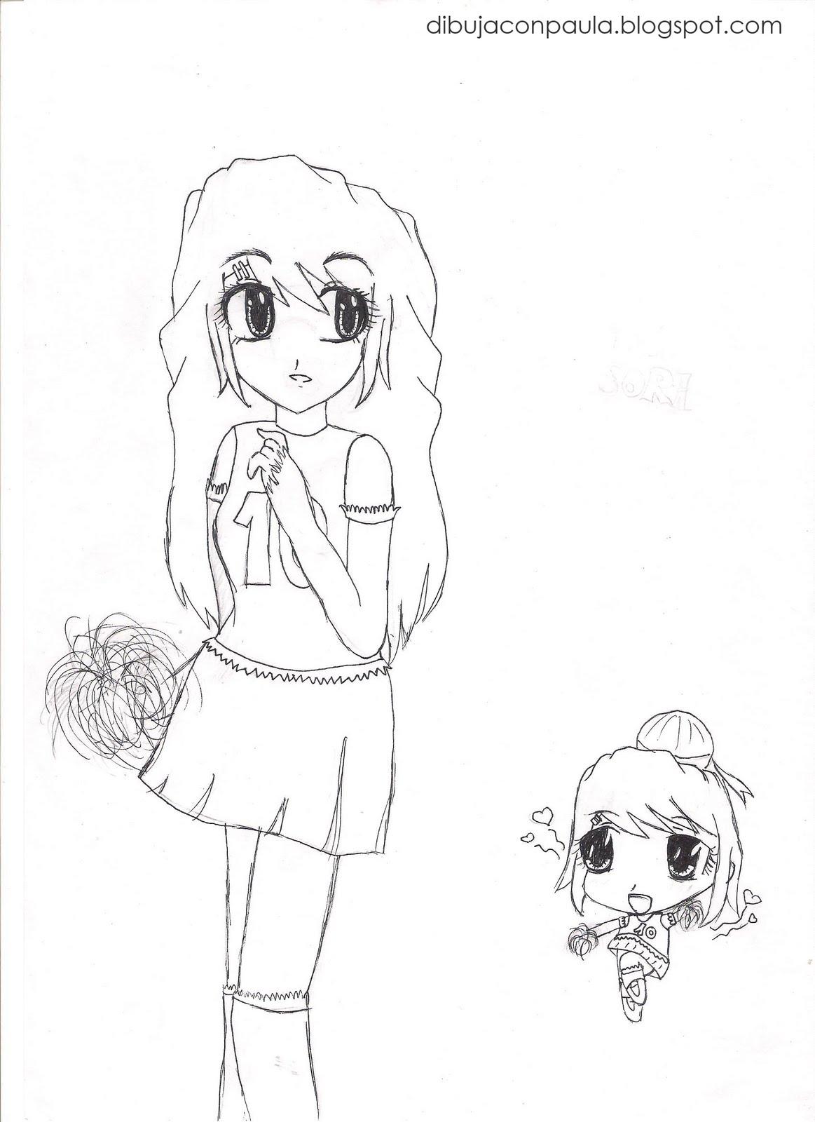 Dibuja con Paula: Animadora para colorear