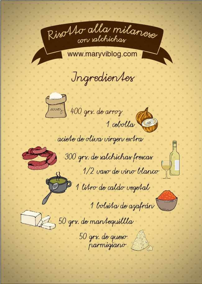 Risotto alla milanese, ingredientes