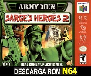 Army Men - Sarge's Heroes 2 64 ROMs Nintendo64