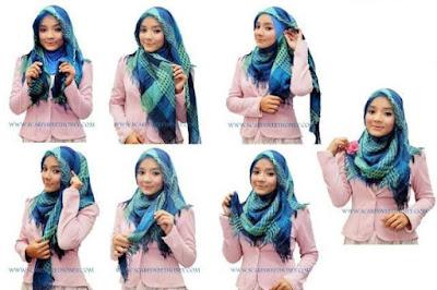 Model Hijab Segi Empat Simple Terbaru 2018