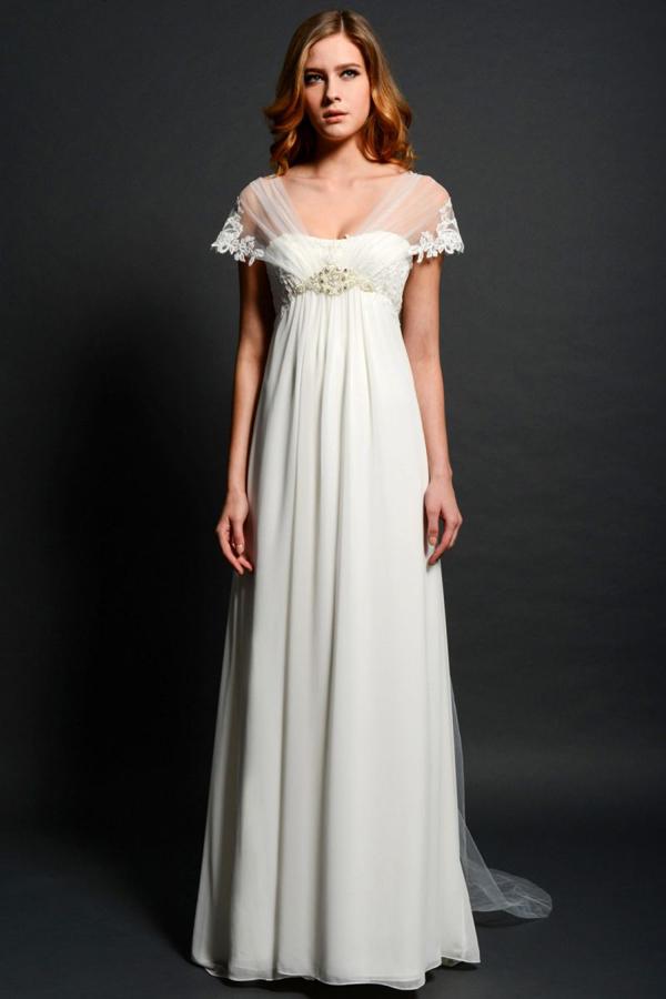 Oriental costumes trending empire waist and anarkali for Empire waist plus size wedding dress