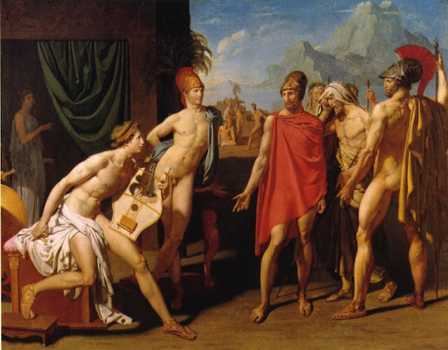 Agamemnon,Achilles,Neoclassical painting