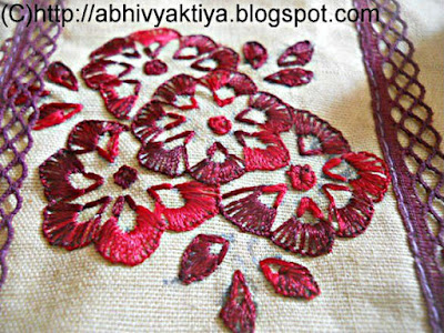 button hole stitch design of hand embroidery