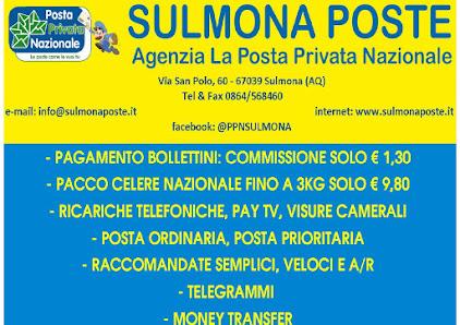 SULMONA POSTE - LA POSTA PRIVATA NAZIONALE