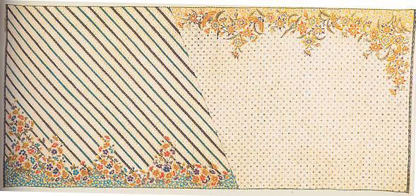 Batik pengaruh Jepang dengan pola Parang dan kawung
