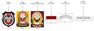 Badge, sekolah SD, SMP, SMA, Permendikbud  No.45 Tahun 2014