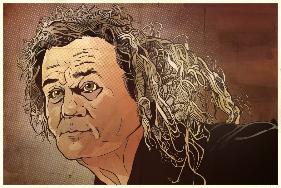 Big Ern McCracken - Bill Murray - Kingpin illustration