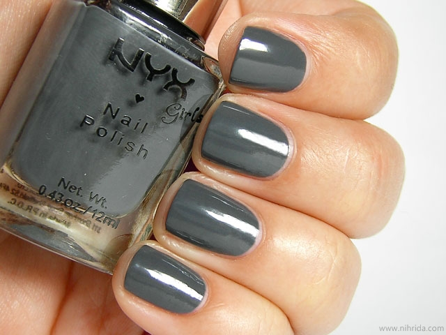 NYX Girls Nail Polish in Dark Gray