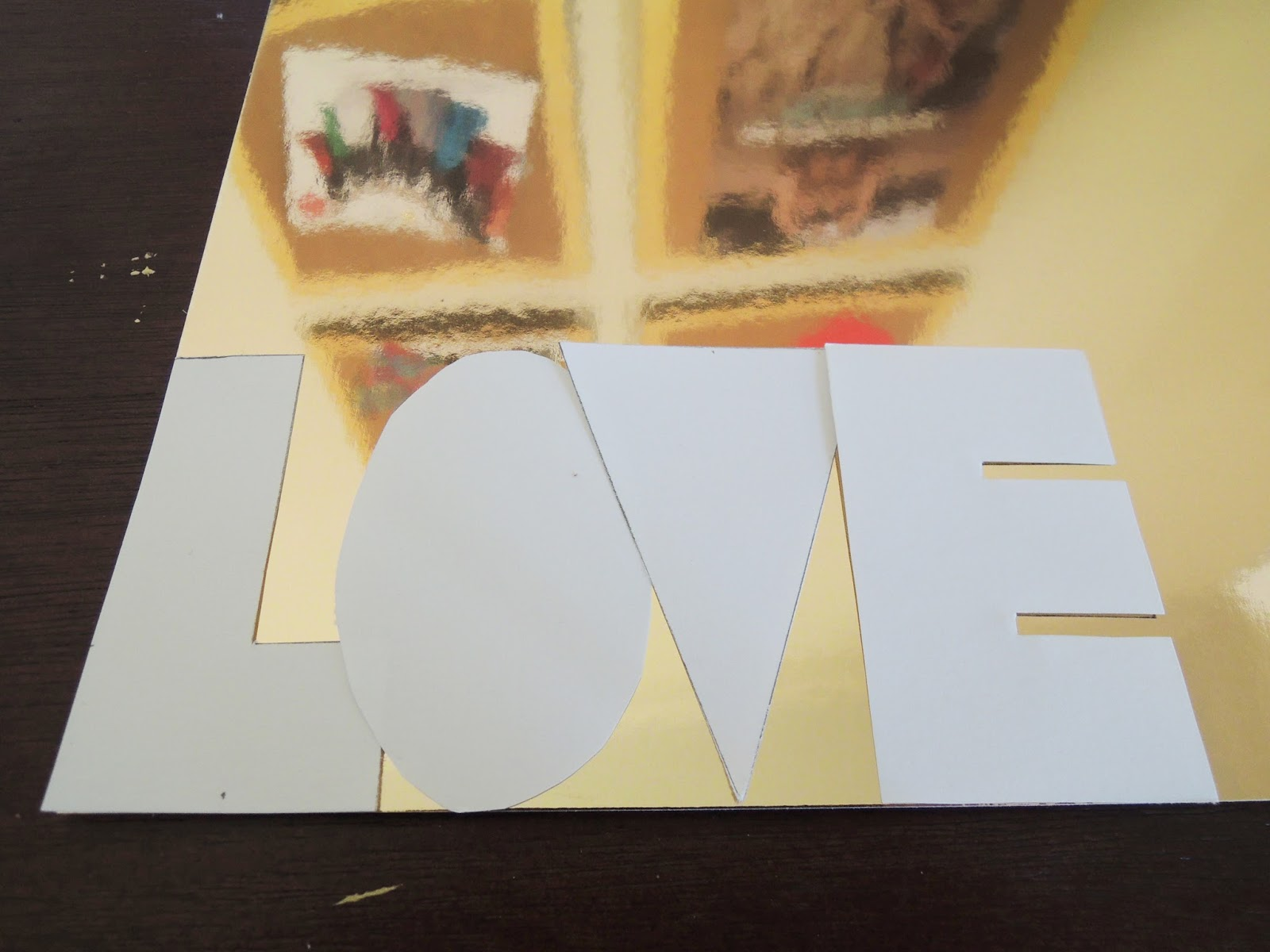 Gold Love Paper Art