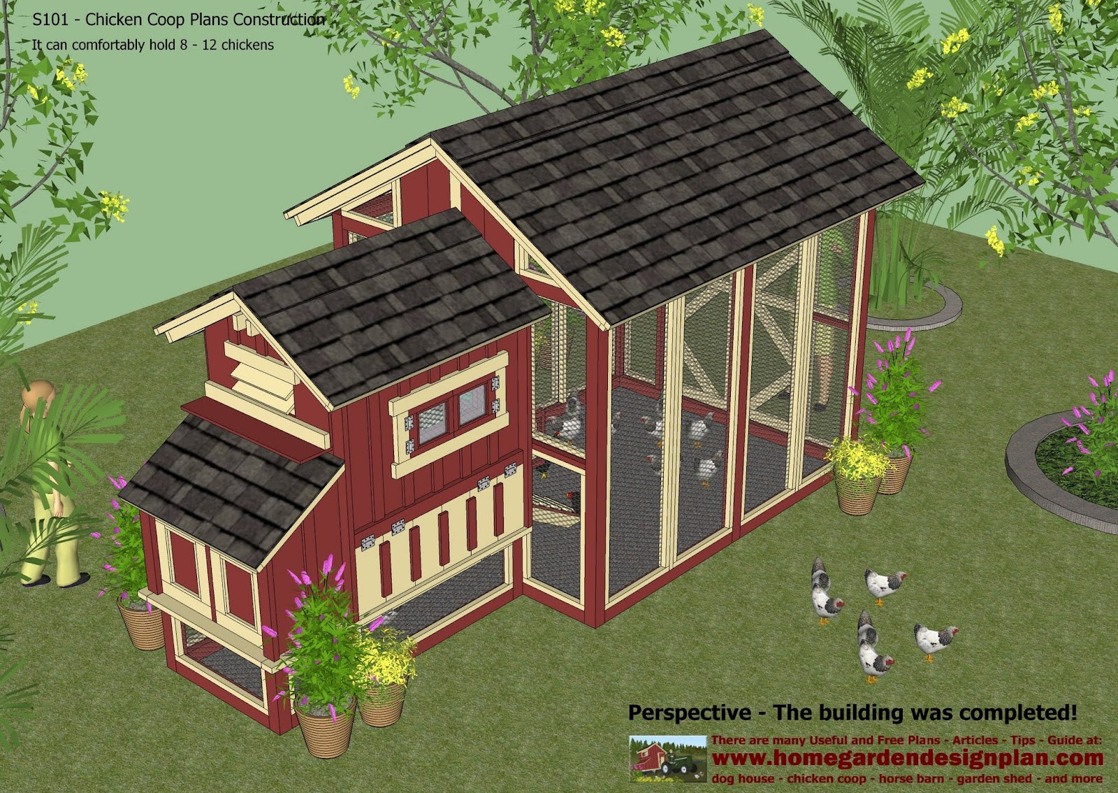 S101 Chicken Coop Plans Construction