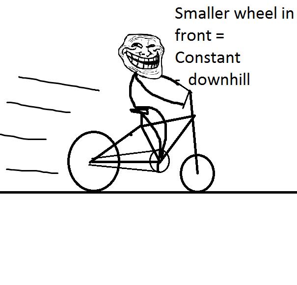 troll on bike jokes physics