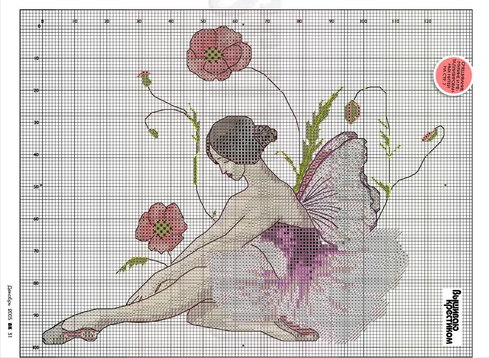 Вышивка крестом схемы балерина.