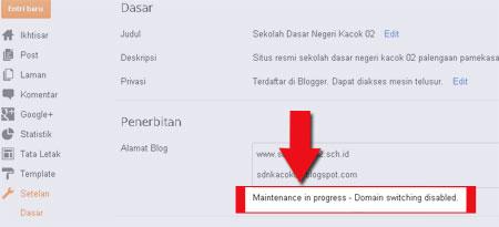 Gangguan Mengganti Domain di Blogspot