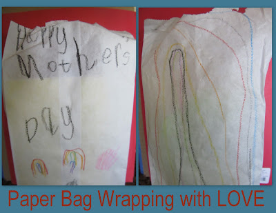 photo of: Mother's Day gift wrap, paper bag wrapping