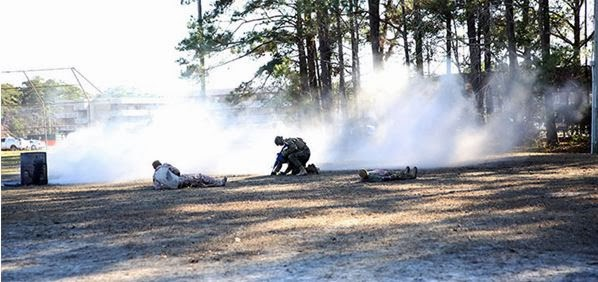 Mass Casualty exercise by the Marine Corps