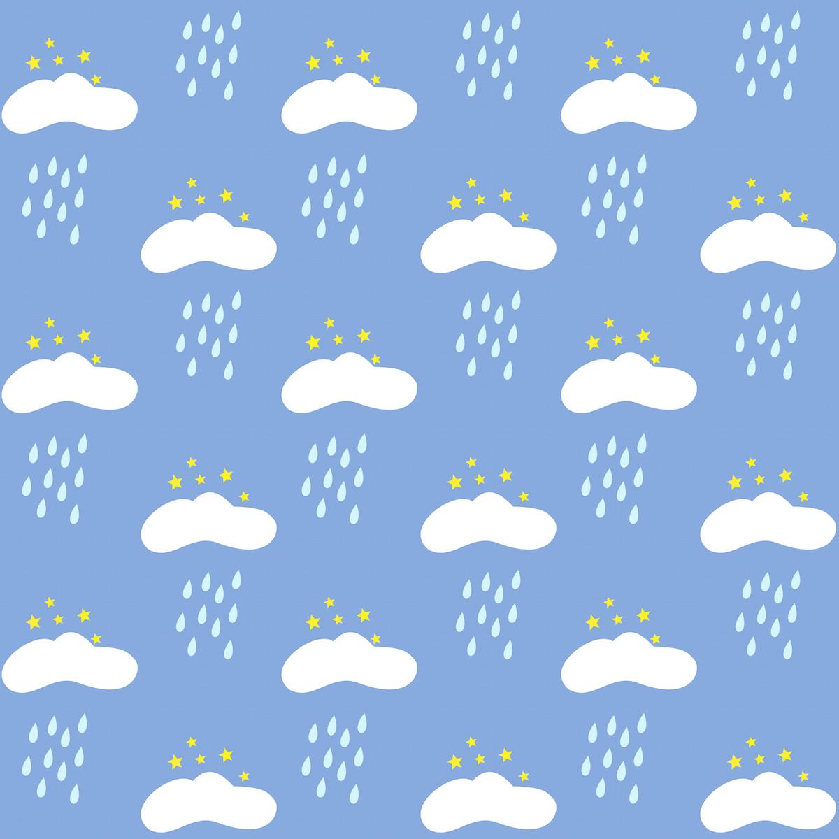 Scrapbook paper clouds - Free Digital Rainy Clouds Scrapbooking Paper Freebie