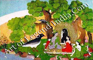 Rama ,Sita and Laxman in the forest