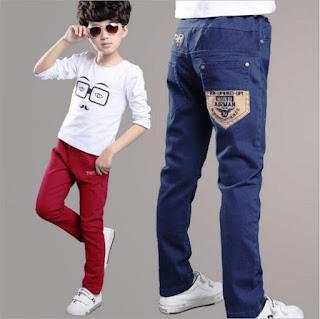 Celana Jeans Berwarna Untuk Anak Laki-Laki