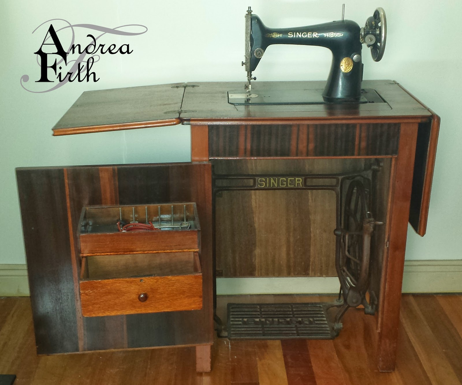 Treadle Sewing Machine Cabinet Obsessive Creativeness 1937 Model 66k Singer Treadle Sewing Machine