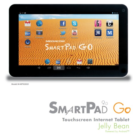 Annunciato un nuovo tablet a basso costo della serie GO da parte di Mediacom