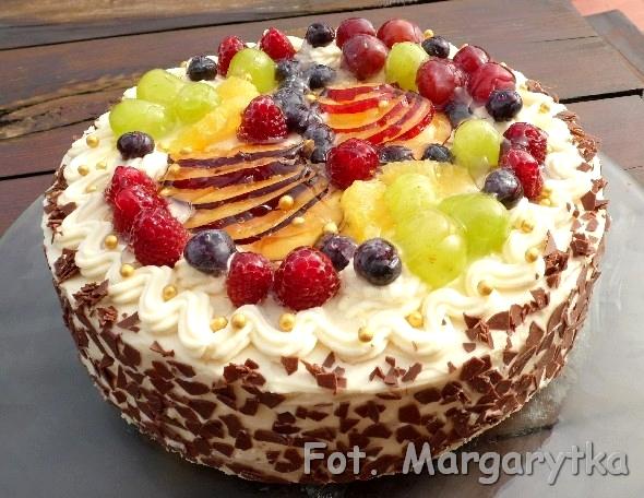 Kulinarne Szaleństwa Margarytki Biały Tort Z Owocami