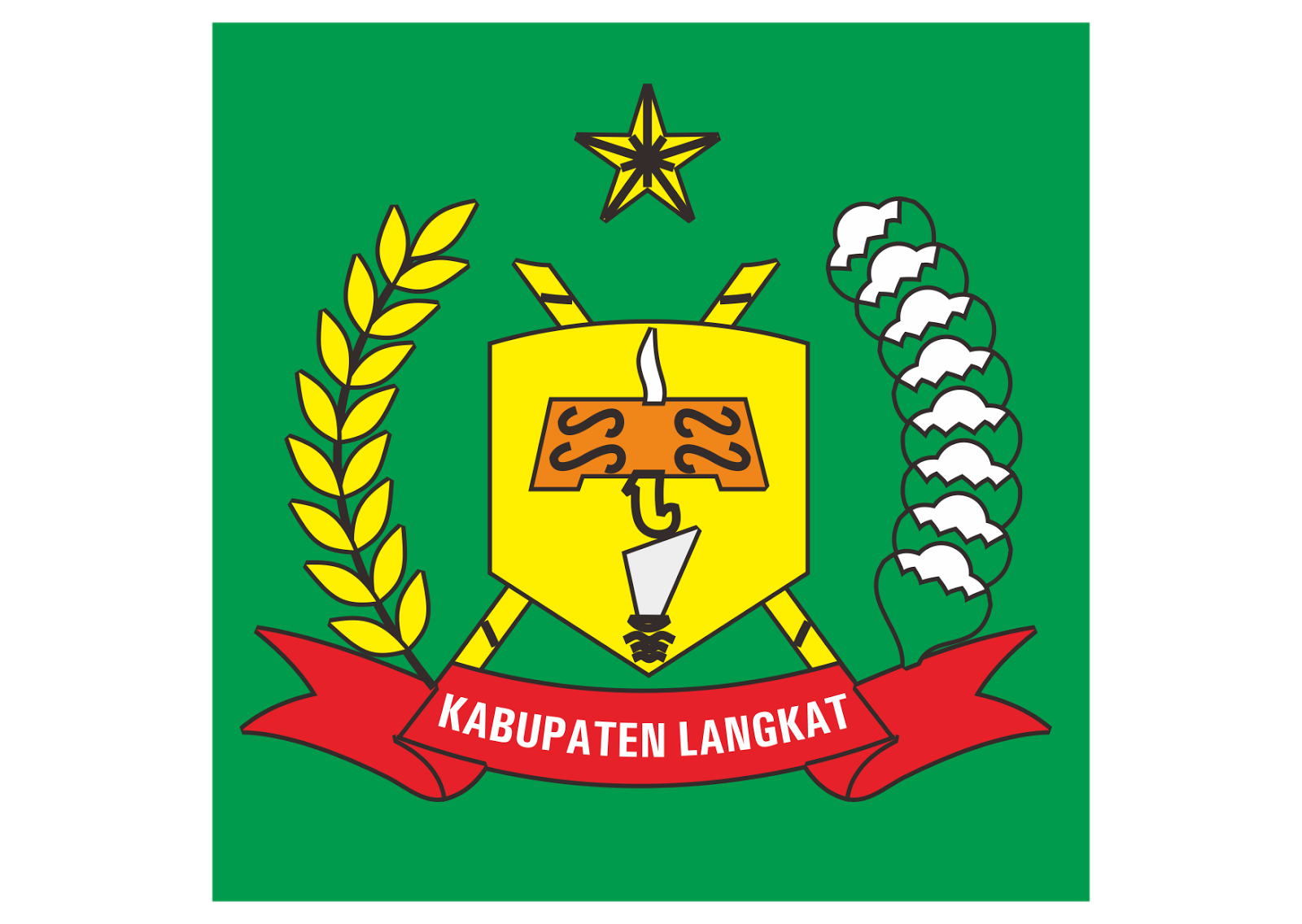 Kabupaten Langkat Logo Vector Format Cdr Ai Eps Svg Pdf Png