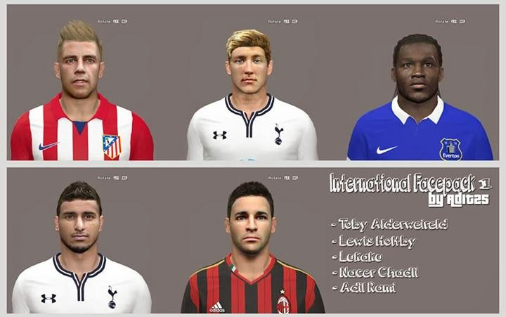 PES 2014 International Facepack 1 By Adit25