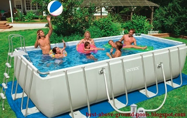 The best intex 24 x 12 x 52 rectangular ultra frame pool for sale best and cheap above ground for Rectangular above ground swimming pools for sale