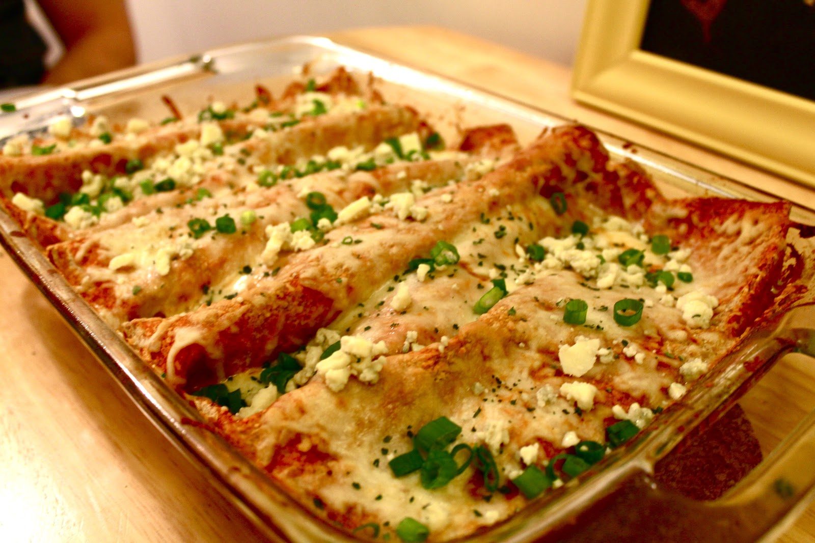 Savoring Our Twenties: Buffalo Chicken Enchiladas (reinvented)