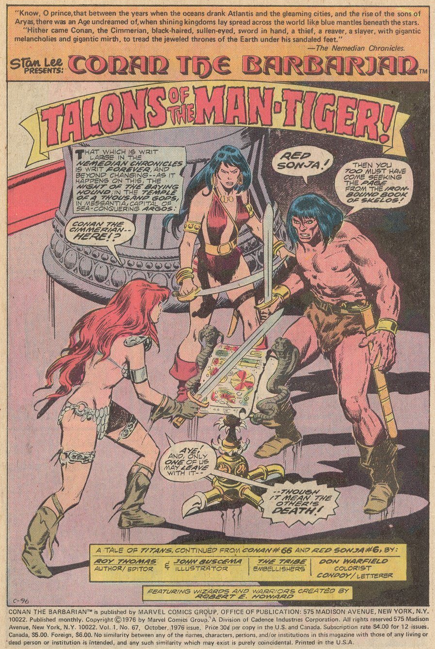 Conan the Barbarian (1970) Issue #67 #79 - English 2