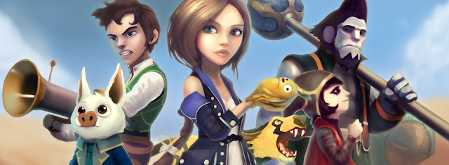 Promotional artwork for video game Festival of Magic. The image shows several of the major characters.