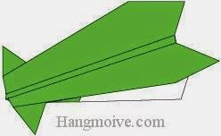Bước 8: Hoàn thành cách xếp máy bay Curtiss P-36 Hawk bằng giấy theo phong cách origami.