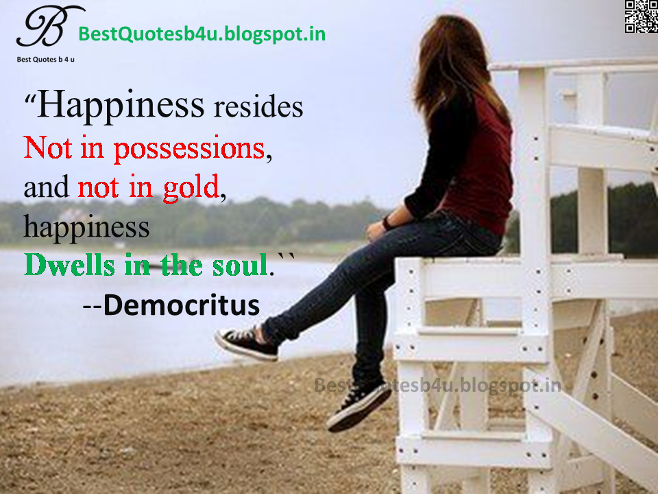 Best English Happiness Quotes with inspirational thoughts sayings from Democritus with awesome images and wallpapers