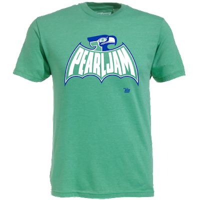 """Pearl Jam Bathawk"" T-Shirt by Ames Bros x Pearl Jam x Seattle Seahawks"