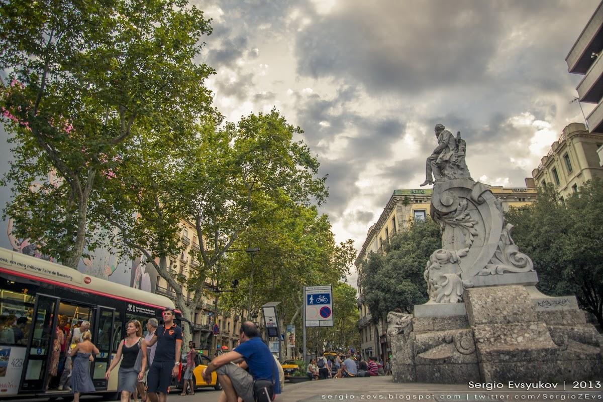 Ла Рамбла в Барселоне