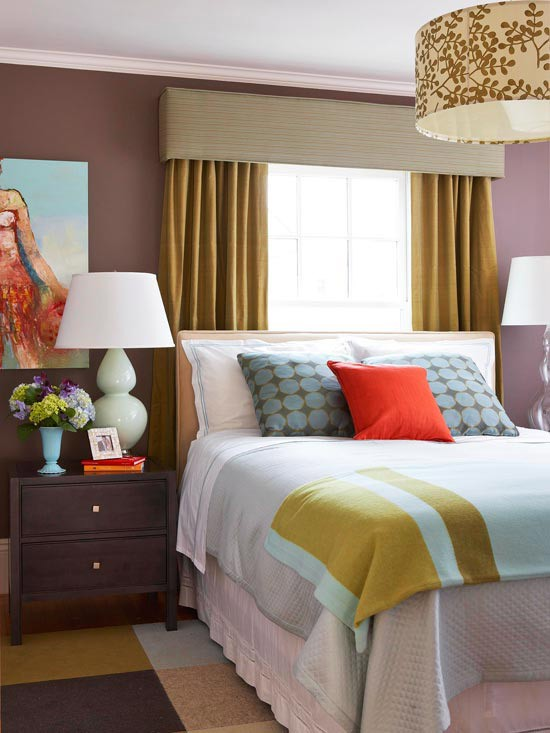 Bedroom with Window Behind Bed Idea