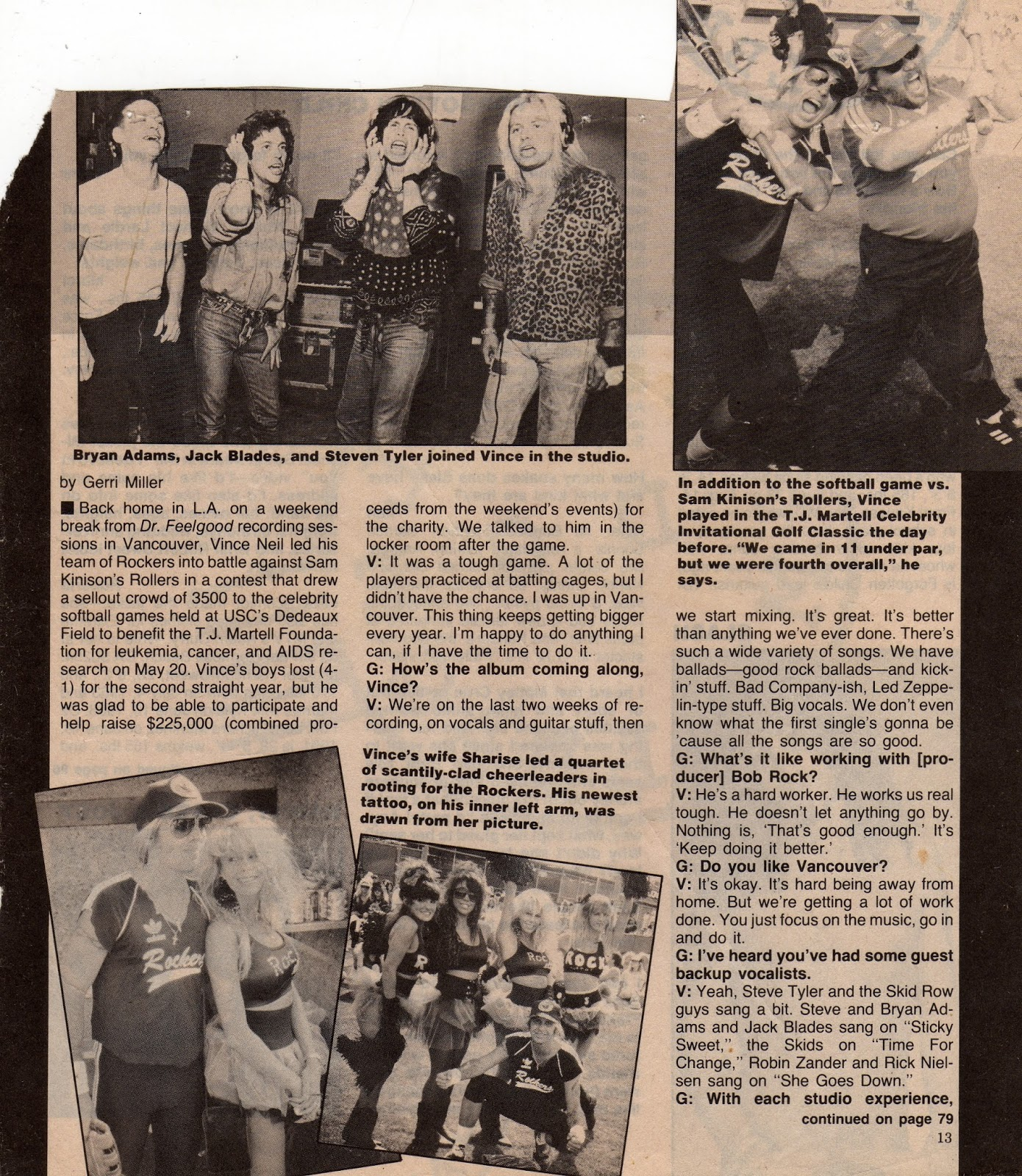Sam kinison accident scene photos -  Talks To Gerri Miller Of Metal Edge Magazine About The Loss To Sam Kinison S Team Updates Her On The Final Stages Of The Recording Of Dr Feelgood