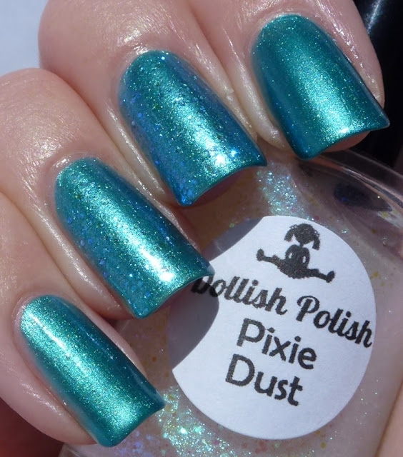Merman, Chi Chi, Pixie Dust, Dollish Polish Mythical Creatures, swatch