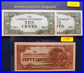 Japanese Invasion Money (JIM) Malaya 50 Cents                      ME prefix