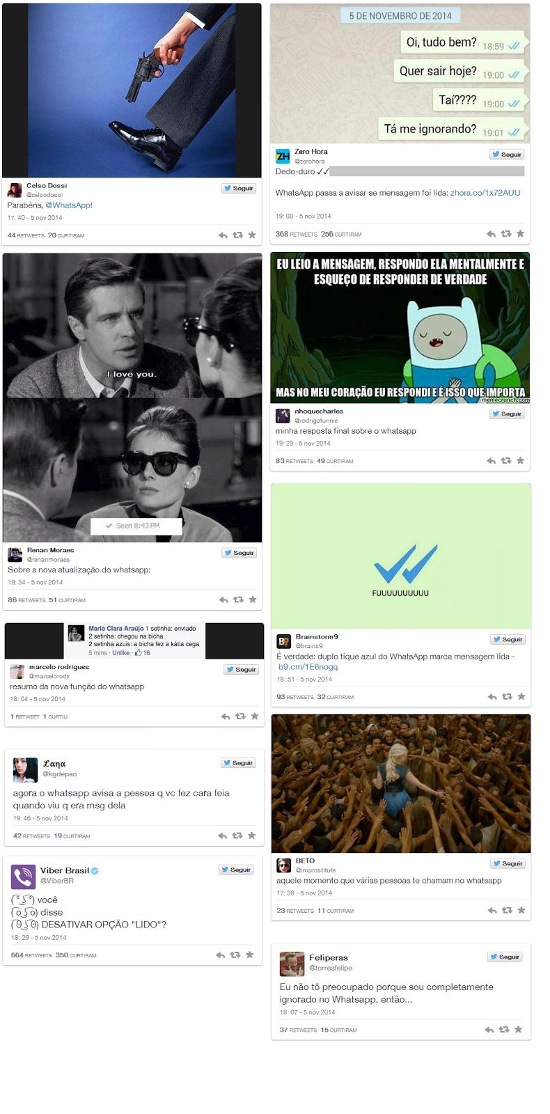 Twitter, Whatsapp, hastag, seta azul