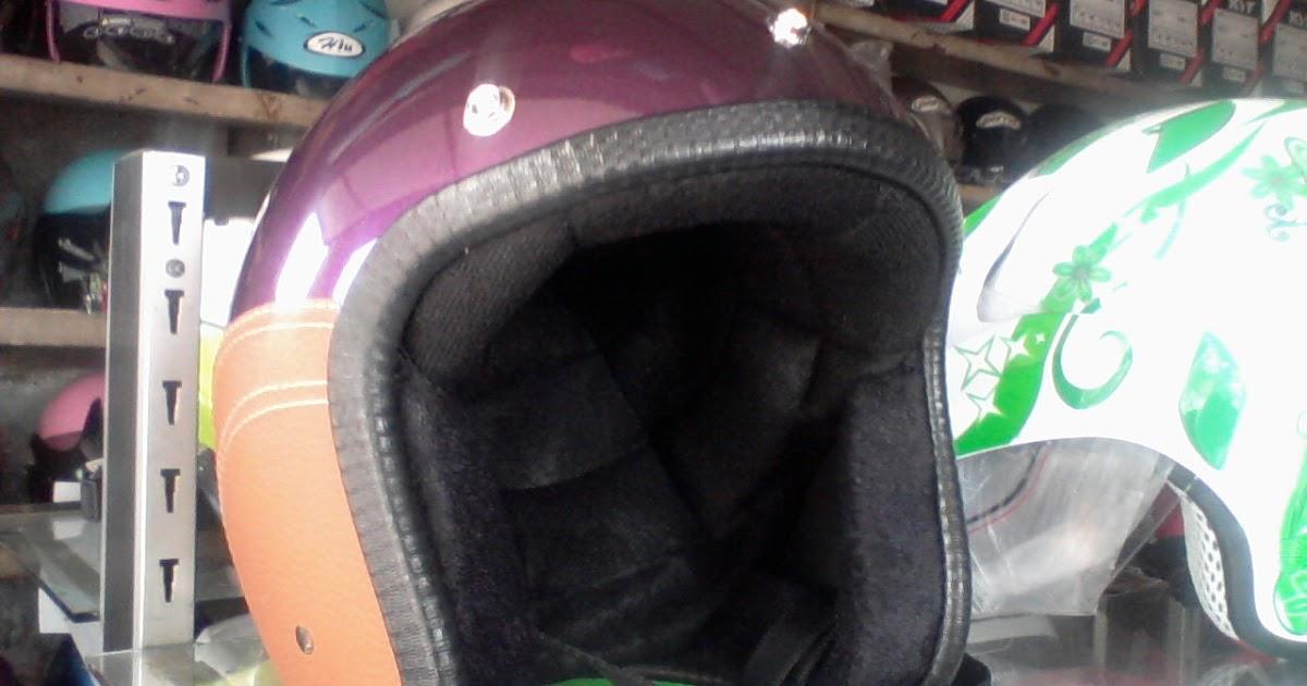 helm retro ungu helm vespa