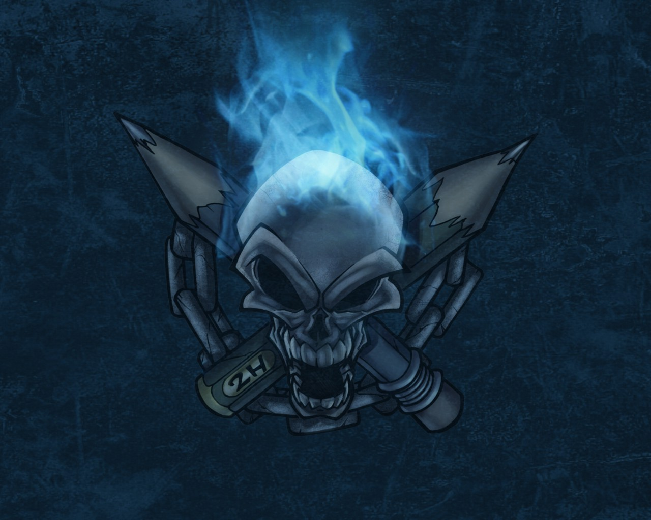 blue wallpaper skull - photo #6